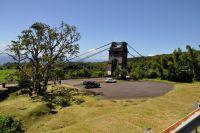 Pont suspendu rivière de l'est